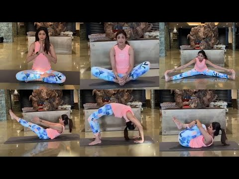 Shilpa Shetty Yogasan Video For Weight Loss at Home in Lockdown | Yoga For Beginners at Home