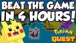 YOU CAN BEAT POKEMON QUEST IN 4 HOURS?!?! by Verlisify
