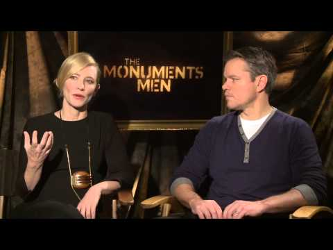 "The Monuments Men: Cate Blanchett ""Claire Simone"" Official Movie Interview"