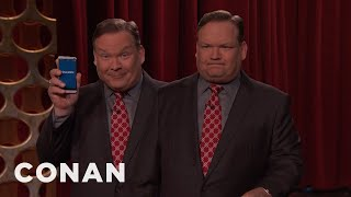 When Andy Richter's rapier wit fails him in the middle of the show, he turns to the QuickWit App for a quick quip. More CONAN...