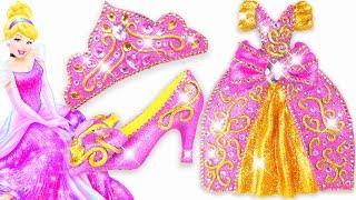 Play Doh Sparkle  Cinderella Disney Princess Shoes High Heels Dress Crown