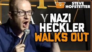 Nazi Heckler Walks Out - Steve Hofstetter