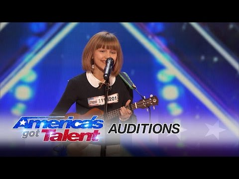 Twelve Year Old Ukulele Player Grace VanderWaal Shocks America  s Got Talent With Original