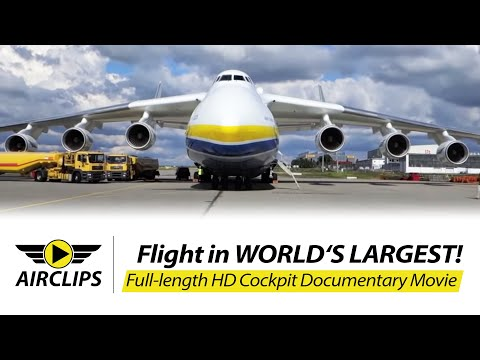 Antonov AN-225 flies 154 metric...
