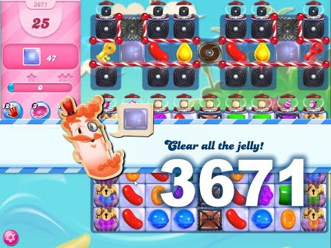 Candy Crush Saga Level 3671 (3 Stars, No Boosters)