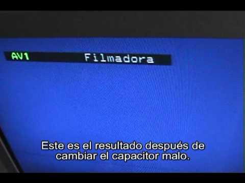 Como arreglar lineas horizontales blancas y de color en la parte superior pantalla del televisor