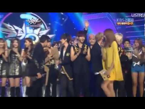 120720 Super Junior - Winner (5th 'Sexy, Free & Single' Win) @ KBS Music Bank
