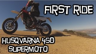 3. Husqvarna 450 SMR - Supermoto - First Ride