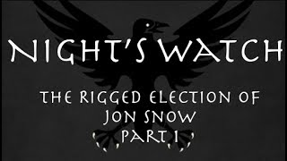 And we finally get to our series on the Night's Watch. We will be touching on quite a few topics with this series. The first bring the election of Jon Snow. How did Jon, a 16 year old boy, beat out an experienced commander like Janos Slynt to be Lord Commander?https://www.patreon.com/prestonjacobs▬▬▬▬ Follow Me on Social Media! ▬▬▬▬https://www.facebook.com/prestonjacobssweetrobin/https://twitter.com/sweetrobin9000▬▬▬▬ Check Out These Videos! ▬▬▬▬The Purple Wedding: https://www.youtube.com/watch?v=tkIczwc7Hz8A Frey in the Snow: https://www.youtube.com/watch?v=_CaDHo9BsJI&The Deeper Dorne: https://www.youtube.com/watch?v=55N8Q6OINHg&t=1sKilling Bran: https://www.youtube.com/watch?v=5MgJb_wh-K0