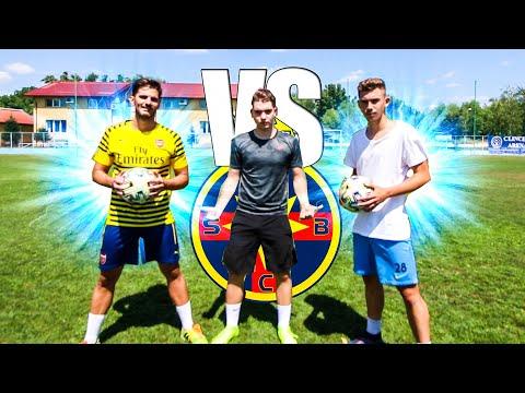 FREE KICK CHALLENGE VS ANDREI PANDELE (FCSB) si PROFESORUL DE SPORT || FOTBAL CHALLENGES