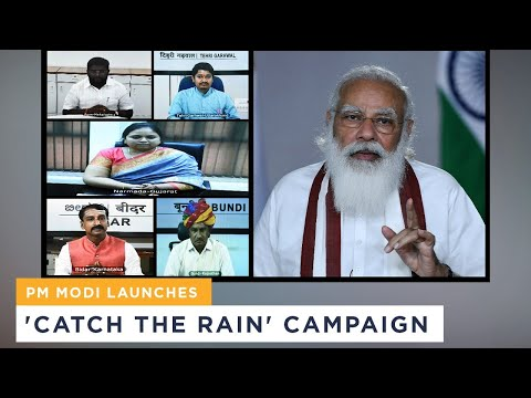 PM Modi launches 'Catch the Rain' campaign