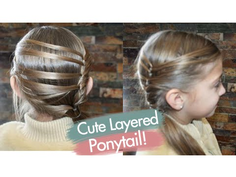 Cute Layered Ponytail | Teen Hairstyles | Cute Girls Hairstyles