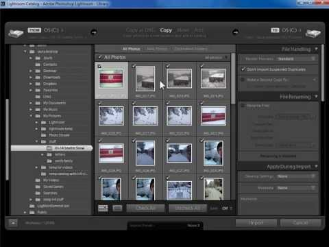 Importing - Laura Shoe shows you how to import photos into Lightroom. Visit Laura's Lightroom Blog at http://www.laurashoe.com. Import photos into Lightroom (get Lighroo...