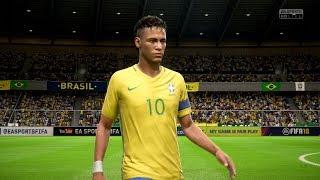 FIFA 18   Brazil vs Argentina - Full Gameplay (PS4/Xbox One)