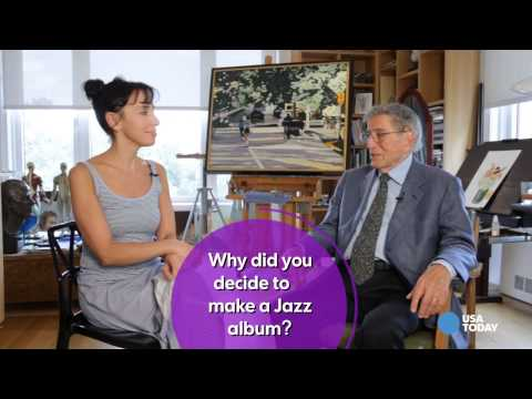 Tony - Tony Bennett has teamed up with an unusual partner for his next album: Lady Gaga. The pair have collaborated to make their new Jazz album, 'Cheek to Cheek.'