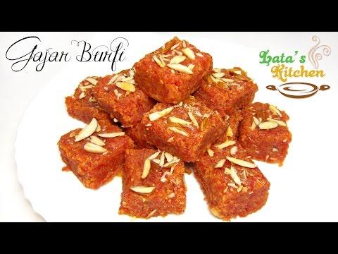 Gajar ki Burfi Recipe (Carrot Burfi) — Indian Dessert Recipe in Hindi with English Subtitles
