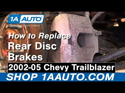 How To Install Repair Replace Rear Disc Brakes Chevy Trailblazer 02-05 1AAuto.com