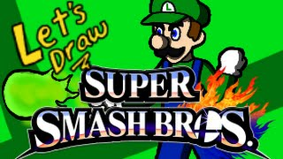 Drawing Every Smash Fighter – Luigi