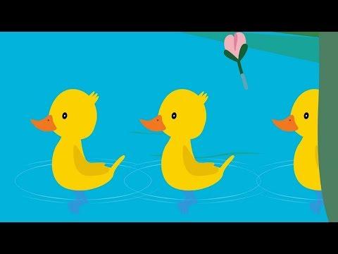 Развивающие и обучающие мультики 🎹 - Пять утят 🐥 (Считалочка) теремок песенки для детей (видео)