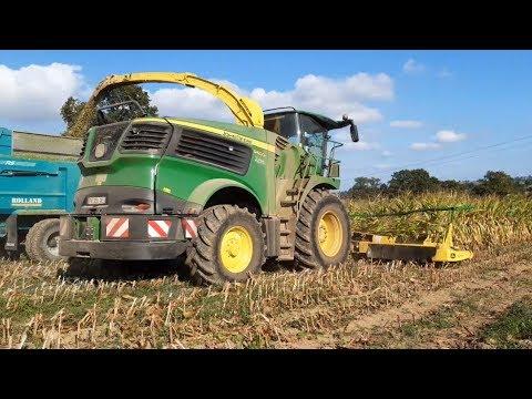 La John Deere 9600i à l'ensilage de maïs 2019   ETA Belliard   видео