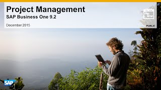 SAP Busines One 9.2 Project Managment