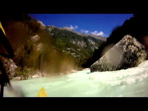 Soca river white water kayaking, Trnovo section, Slovenia 20-09-2010