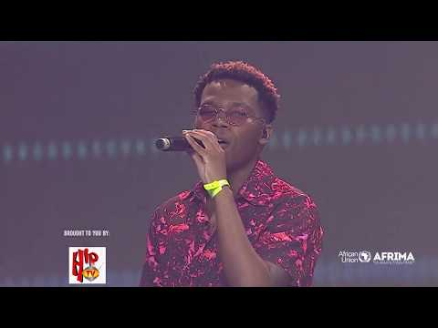 Live Performance of Tellaman, South African singer, songwriter at the 6th AFRIMA
