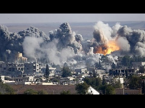 IN - The Syrian border town of Kobani saw some of the fiercest fighting in days on Sunday as ISIL militants attacked Kurdish defenders with mortars and car bombs. The US has kept up its air strikes...