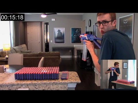 SHOOTING 430 NERF DARTS AS FAST AS POSSIBLE | TACTICAL SPRAY & PRAY!