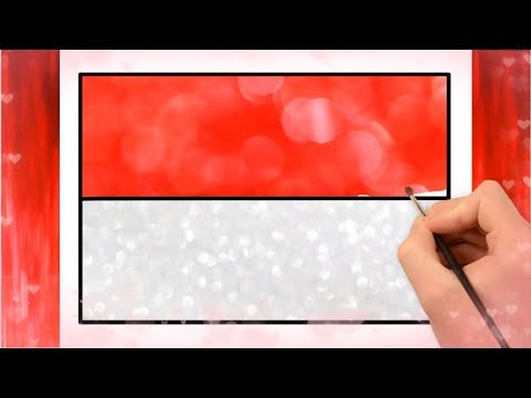 How To Drawing Indonesia Flag | Indonesian Flag | Little Channel | Draw Light Color Flags | For Kids