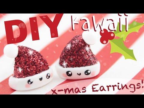 orecchini natalizi in fimo