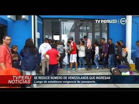 Migraciones: se reduce número de venezolanos que ingresan al Perú