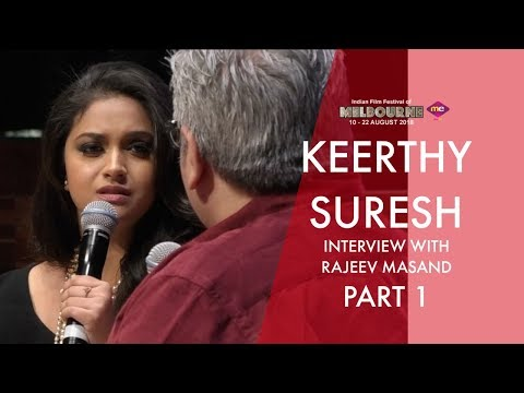 Rajeev Masand interview with Keerthy Suresh   Part 1   Mahanati Team   IFFM 2018   Exclusive   Me TV