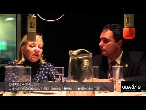 Graciela Medina y Julio Rivera en Derecho al Día - el programa de radio de la Facultad de Derecho