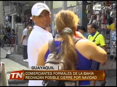 Comerciantes formales de La Bahía rechazan posible cierre por navidad