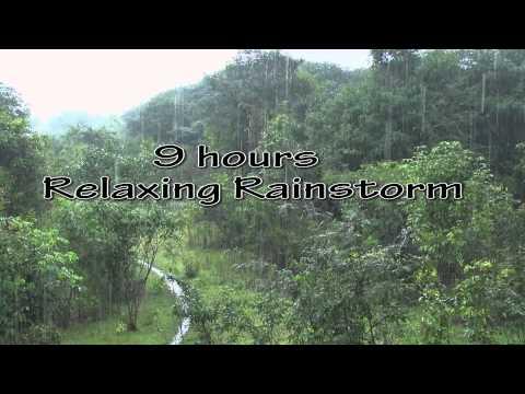 Heavy Rainfall +Thunder sounds(Sleep+Relax+Focus+Meditate)HD 1080p