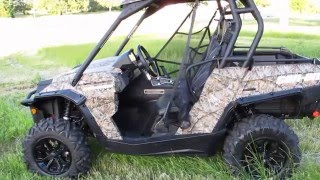 6. 2015 can Am Commander 800 XT Camo, power steering, only 58 miles, for sale in Texas