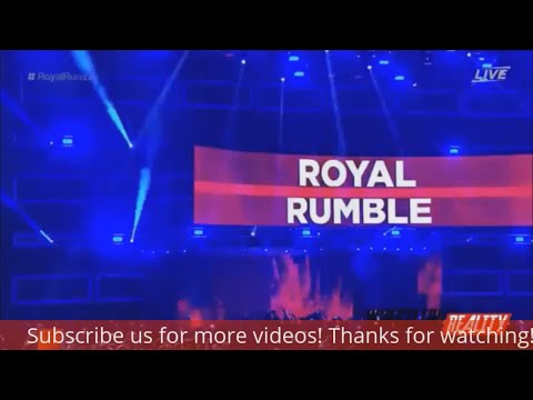 WWE Royal Rumble 2017 Full Match-30 man royal rumble