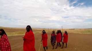 Traditional Maasai Welcome Dance On Arrival In Kenya