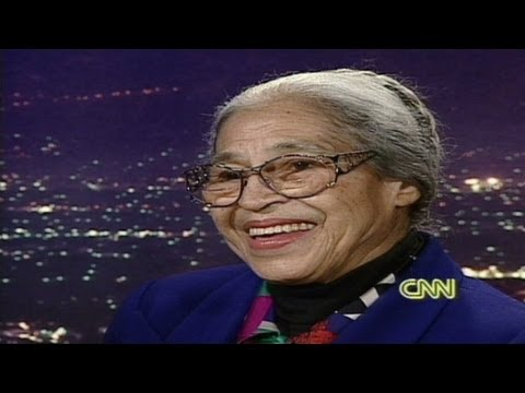 rosa parks - Former CNN host Larry King talks to Rosa Parks about her famous refusal to give up her seat on a bus to a white man. For more CNN videos on YouTube, check ou...