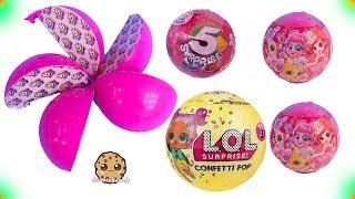 Video 5 Layer Surprise Toys + LOL Confetti POP - Cookie Swirl C Video MP3, 3GP, MP4, WEBM, AVI, FLV Oktober 2018