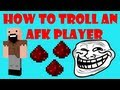 Minecraft - How to Troll an AFK Player #2