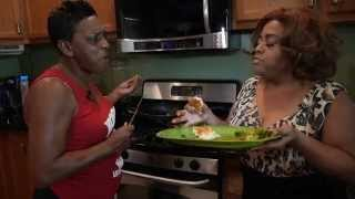 Cast member Sherri Shepherd of the new movie TOP FIVE joins Auntie Fee in the kitchen for a hilarious good time making pork...