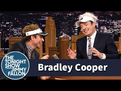 Jimmy - Jimmy talks to Bradley Cooper about his Broadway return in Elephant Man, but their visors make it hard to get serious. Subscribe NOW to The Tonight Show Starring Jimmy Fallon: http://bit.ly/1nwT1a...