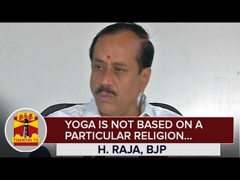 Yoga-is-not-based-on-a-Particular-Religion--H-Raja-BJP-National-Secretary--Thanthi-TV