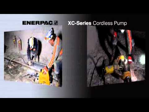 Enerpac XC-Series Cordless Pump Mining Applications