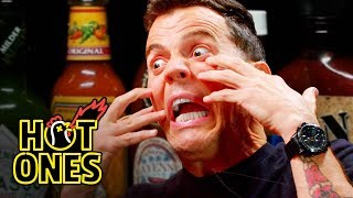 Video Steve-O Tells Insane Stories While Eating Spicy Wings | Hot Ones MP3, 3GP, MP4, WEBM, AVI, FLV November 2018