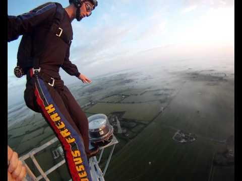 1000ft Base Jump at Sunrise