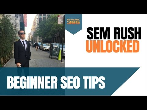 SEM RUSH Tutorial: SEO Keyword Research, Link Opportunities for Beginner SEOS