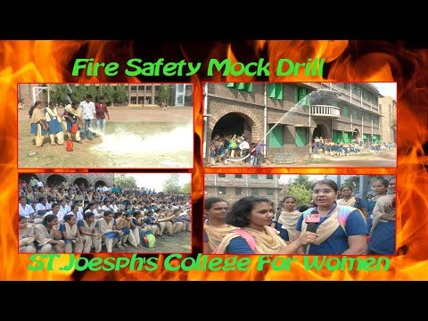 Fire Safety Mock Drill by ST.Joesph's College For Women in Visakhapatnam,Vizagvision News...